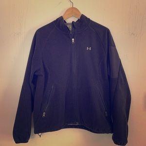 Black under Armour full zip fleece jacket. S L.